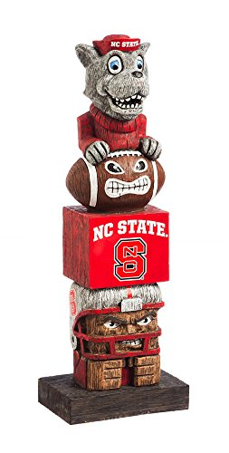 Team Sports America NCAA North Carolina State Wolfpack Tiki Totem
