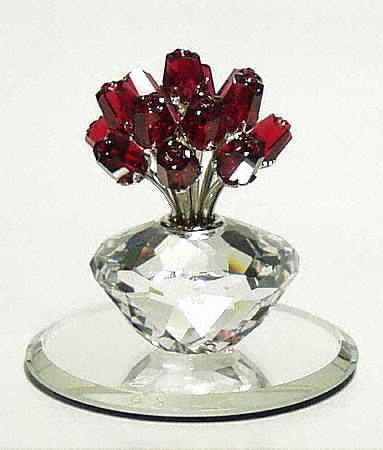 Swarovski Vase of Roses