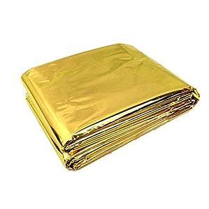 Ndier - Manta de emergencia, manta térmica, manta térmica para protección del calor, multifunción, manta de primeros auxilios, color dorado, 210 x 130 cm 22
