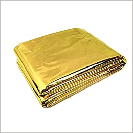 Ndier Manta de Rescate, Mantas de Emergencia Manta Térmica Manta isotérmica para Protección Calor Multifuncional Manta de Primeros Auxilios, Color d Oro 210 ...