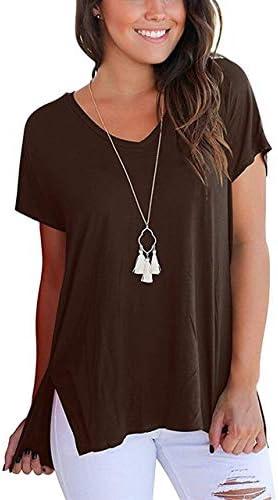 LFMDSY Camiseta Mujer Manga Corta Básica Sólida Camisa Algodón Mujer Suelta Top Pure Summer Casual Camiseta Suelta V Cuello: Amazon.es: Deportes y aire libre