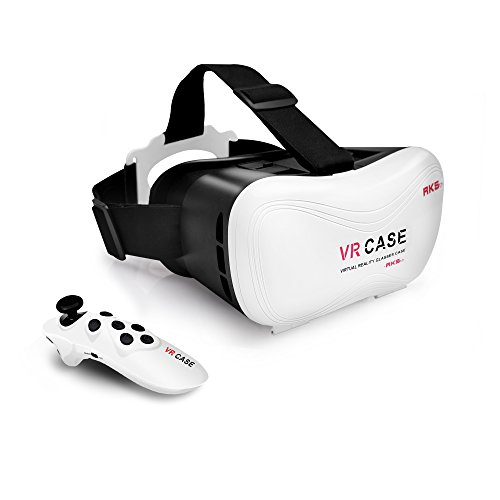 LiKee Virtual Reality Headset VR 3D Glasses with Remote Controller for iPhone 5/6/6s Plus Samsung Android Video Games