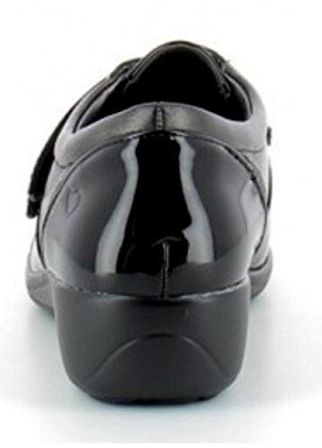 Heavenly Feet Clara Slip-On Twin Strap Fastening Black CDU1j