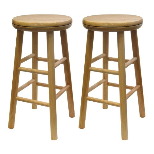 "Winsome Wood 88324 24"" Natural Swivel Bar Stool"