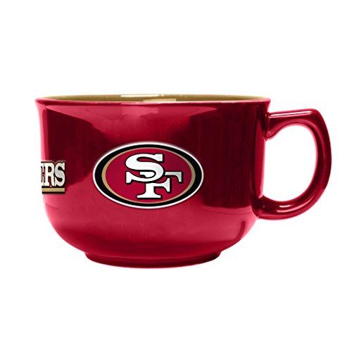 (NFL San Francisco 49ers Sculpted Bowl Mug, 32-Ounce)