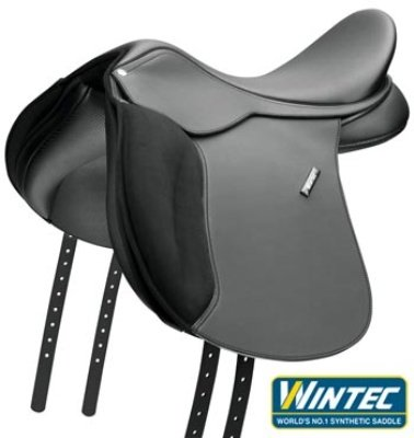 Wintec 500 Wide All-Purpose Flocked Saddle 16.5'' B