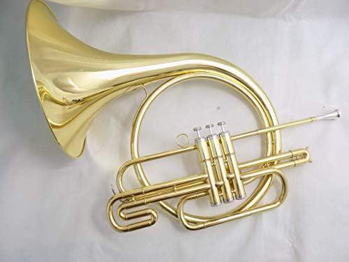 SUERTE Bb キー ピストン フレンチ ホーン 真鍮ボディ 銅杯 リードパイプ 漆仕上げ ケース付き 楽器