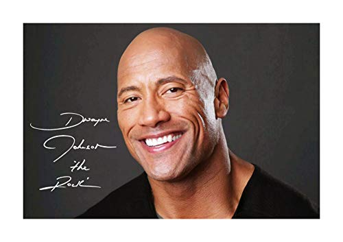 Engravia Digital Dwayne Johnson The Rock WWE Poster Signed Autograph Reproduction Photo A4 - Poster Autograph