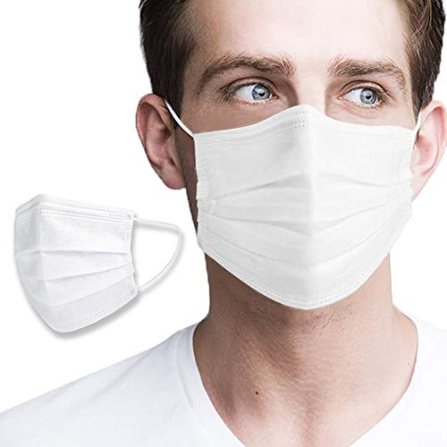 Face Masks White 3 Layers (Pack of 50 PCS)