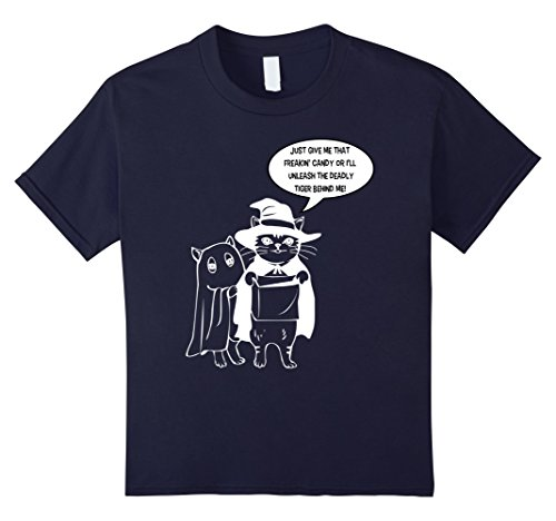 Kids Funny Cat Offensive Cartoon Halloween Costume T-Shirt 6 (Offensive Halloween Costumes)