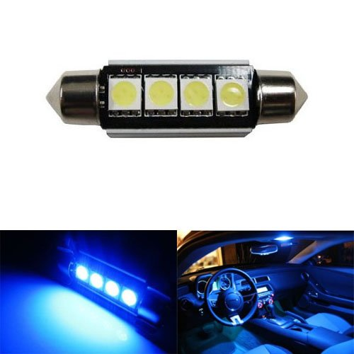 iJDMTOY 4-SMD Error Free 6411 578 LED Bulb For Car Interior Dome Light or Trunk Area Light, Ultra Blue