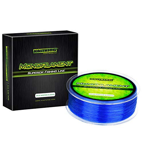 KastKing Premium Monofilament Fishing Line - Superior Mono Nylon Material - Paralleled Roll Track Design - Tournament Grade - Strong, Abrasion Resistant Mono Line for Saltwater (Blue, 600Yds/30LB)
