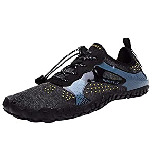 MTENG Unisex Quick-Dry Water Shoes Pool Beach Swim Drawstring Shoes Creek Diving Shoes (35-46)
