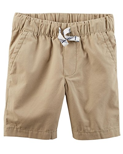 Carter's Little Boys' Pull-on French Terry Shorts (2T, Poplin/Khaki) by Carter's