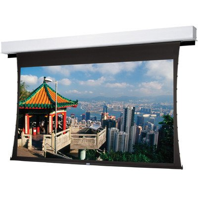 Tensioned Advantage Deluxe Electrol High Contrast Audio Vision Electric Projection Screen Viewing Area: 57.5