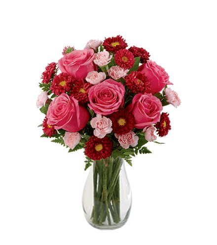 ouquet with Vase (Ftd Rose Bouquet)