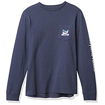 Winery Vines Boys' Lengthy-Sleeve Crossed Hockey Sticks Whale Pocket Tee
