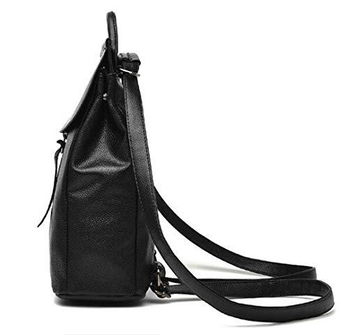 femelle de bandoulière éclair mode fermeture sac dos Sac solide Black double scolaire fonctions simple voyage grande décontractée sac Lady capacité FCwZ7gqa