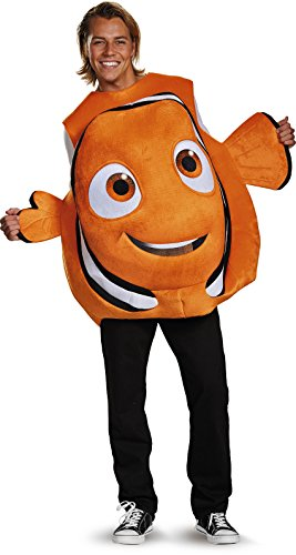 Finding Nemo Costumes Adults (Disney Men's Finding Dory Nemo Costume, Orange, One Size)