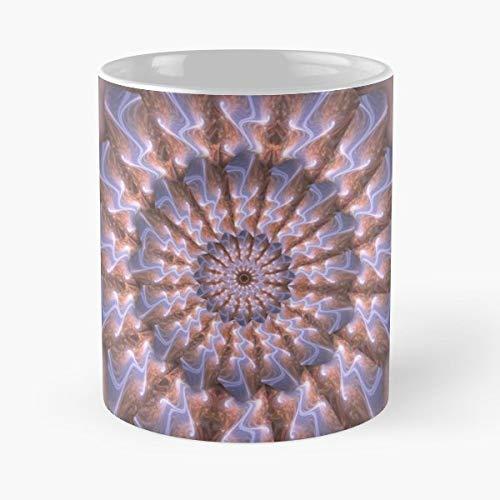 Mandala Swirl Mauve Pink Gift Ceramic Novelty Cup 11 Oz