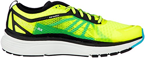 Salomon Men's Sonic Ra Trail Running Shoes, Blue Yellow (Safety Yellow/Black/Bluebird 000)