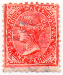 New South Wales Postage Stamp Single 1862 Queen Victoria Issue 1 Penny Scott #45