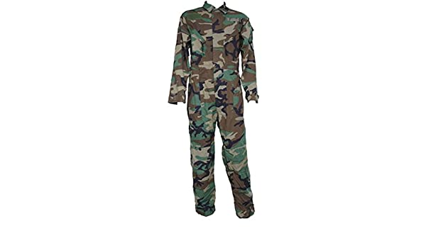 Amazon.com  Genuine Issue GI Woodland Camo Cold Weather Mechanics Coveralls   Clothing 33f1ae5d973