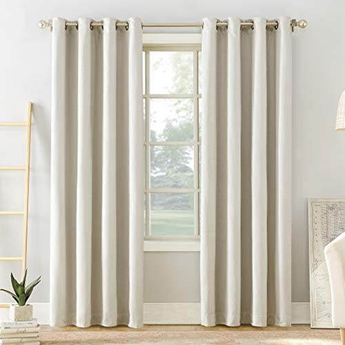 Sun Zero Manor Chenille Theater Grade Extreme 100 Blackout Grommet Curtain Panel