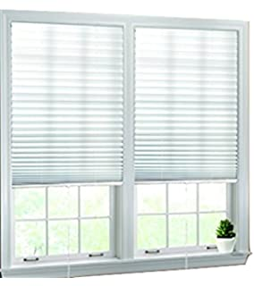 luxr blinds pleated fabric shades with easy pull cord operation quick fix light filtering