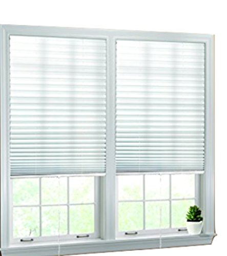 Luxr Blinds Pleated Fabric Shades with Easy Pull
