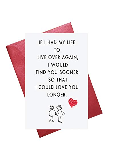 Valentine's Day Cards, Love Card, Romantic Card, Birthday Card, Wedding Card, Blank Inside (Cards Birthday Valentines)