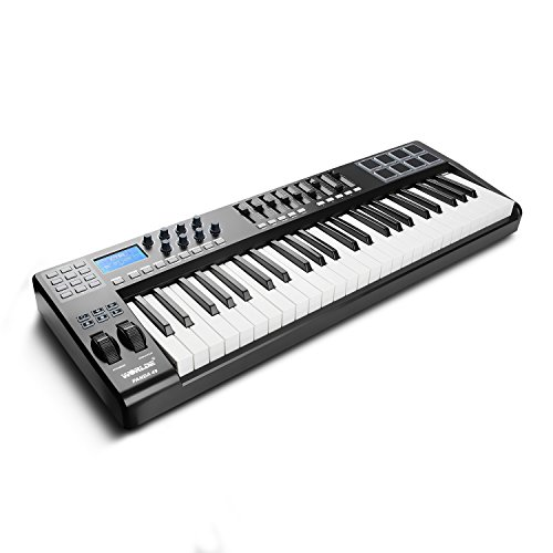 Worlde Panda 49 USB MIDI Keyboard Controller 49-Key & 8 Drum Pad 9 Faders 8 Knobs