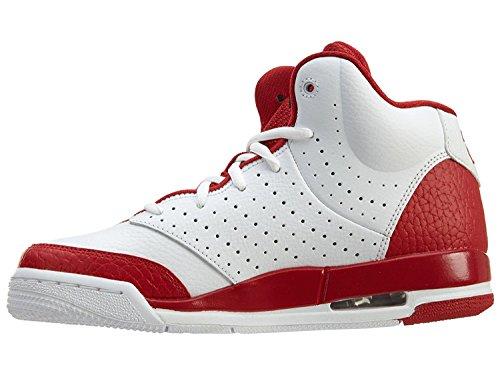 Zapatillas de baloncesto Air Jordan Flight Tradition de Nike Boy blanco / negro, rojo gimnasio, 11 M US Little Kid