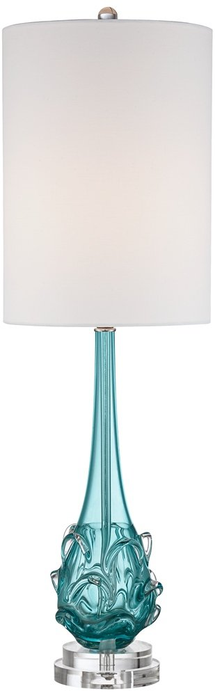 Possini Euro Dinah Blue Art Glass Table Lamp by Possini Euro Design