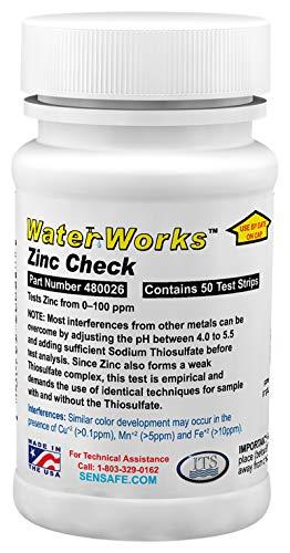 Test Zinc - Industrial Test Systems 480026 WaterWorks Zinc Check