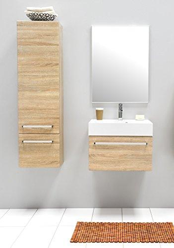 Juego de muebles para baño con espejo Armario Armario alto de ...