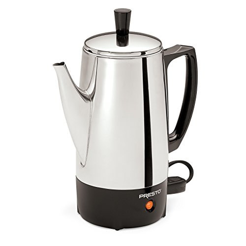 Electric Percolator Coffee Pot - Presto 02822 6-Cup Stainless-Steel Coffee Percolator