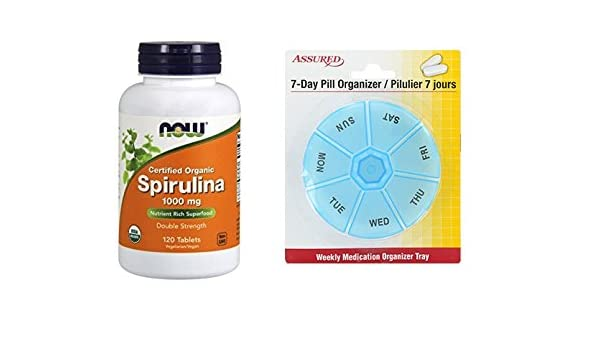 Amazon.com: AHORA espirulina 1000 mg, 120 tabletas: Health & Personal Care