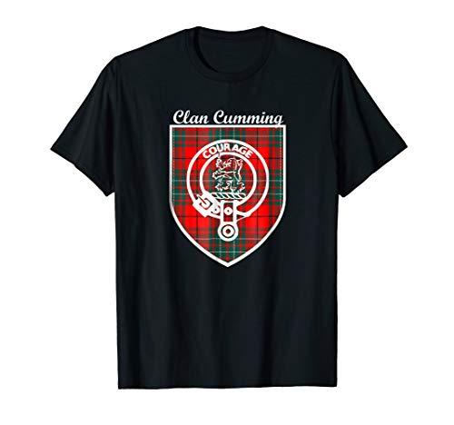 - Cumming surname Scottish clan tartan crest badge t-shirt