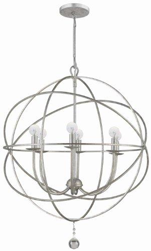 Crystorama 9226 os solaris 6 light chandelier in olde silver crystorama 9226 os solaris 6 light chandelier in olde silver aloadofball Images