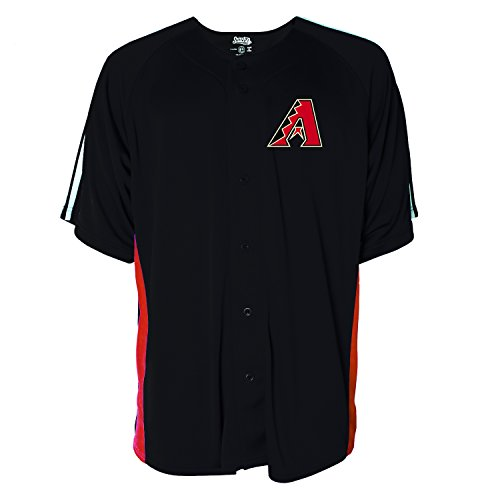 Arizona Baseball Jersey (MLB Arizona Diamondbacks Men's Button Down Fashion Jersey, Black,)