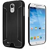 Cygnett CY1181CXURB UrbanShield Brushed Aluminum Metal Case for Galaxy S4 - 1 Pack - Retail Packaging - Black
