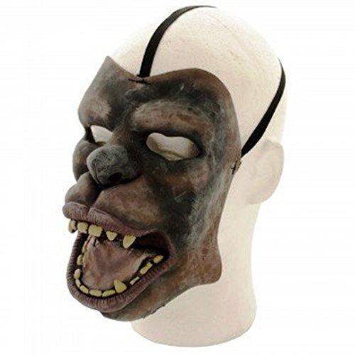 Halloween Wolfman Rubber Mask - Looks Real & Scary | Perfect Wolf Mask for Halloween, Masquerade & Costume Theme Parties (Halloween Costume Ideas Uk)