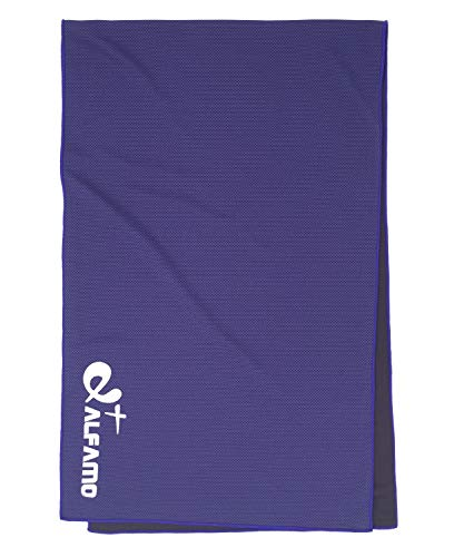 Cold Towel for Kids (Dark Violet, S) Super Absorbent Soft Ultra Compact Fast Drying Close to Black Cooling Neck Towel for Gym Golf Bowling Workout Backpacking and Hiking Instant Cooling Relief 11 x 33