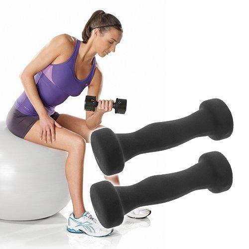 El Juego Incluye dos mancuernas de 1 kg cada uno. Material: Neopreno. Tagen pesas Sono ideales para ejercicios I bíceps, tríceps, ...