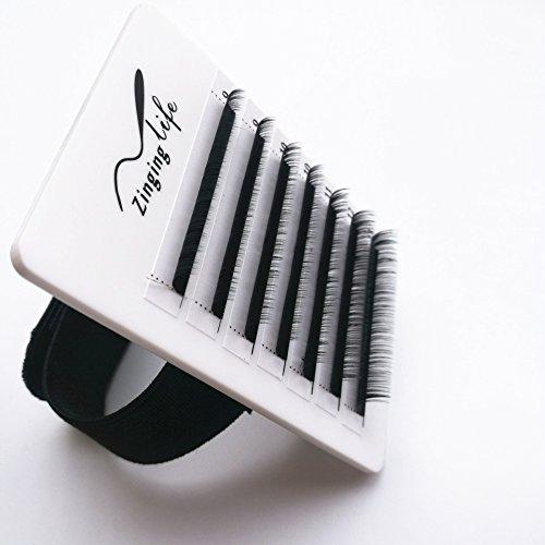 (LEAVE NO GLUE MARK durable professional hard lash holder matt white acrylic eyelash extensions hand plate with adjustable wrist strap)