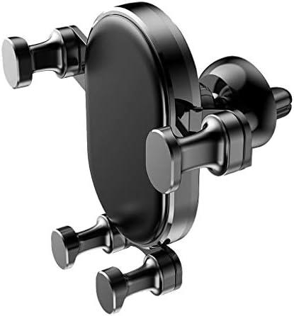 重力携帯電話ホルダー、あらゆる種類の携帯電話用のカーエアアウトレットクリエイティブカーホルダー (色 : ブラック)