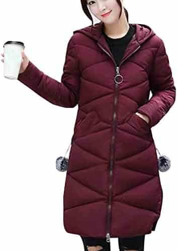 9c2dda7f5961 ZEVONDA Ladies Winter Coats Hooded Quilted Coats Jacket Parka Overcoats 6  Colors