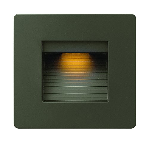 Hinkley Landscape Lighting LED Luna Step Light - Add Safety and Security Indoors and Outdoors, ADA Compliant and Energy Efficient Small Step Light, Bronze Finish, 58506BZ