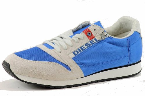 Diesel Men's Slocker S Fashion Sneaker Shoes (13, Skydiver/Silver Birch)